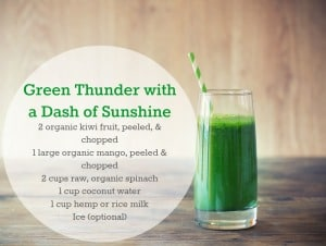 green thunder smoothie