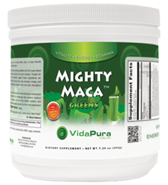 Mighty Maca single can logo