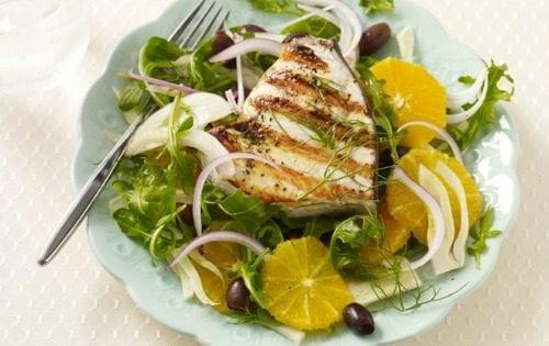 Gluten free grilled swordfish