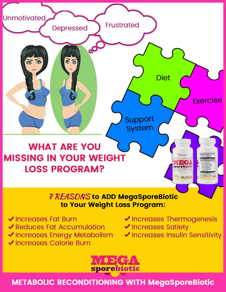 Megasporebiotic for weight loss