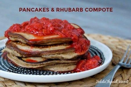 Pancakes & Rhubarb Compote
