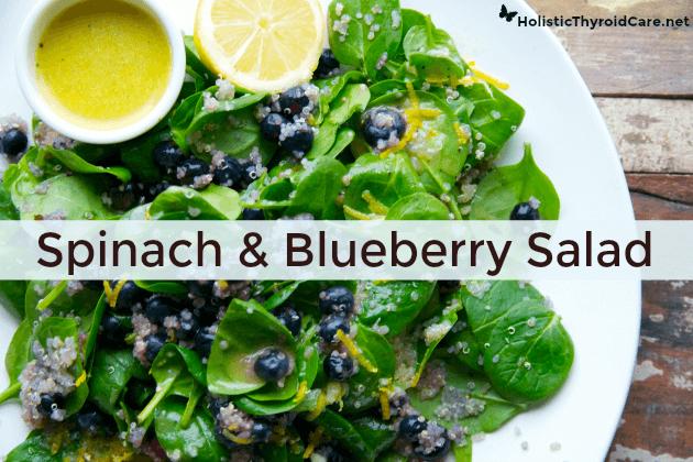 thyroid-nurse-spinach-blueberry-salad