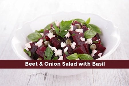 Beet and Red Onion Salad with Basil
