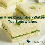 Gluten Free Cucumber Watercress Cream Cheese Tea Sandwiches