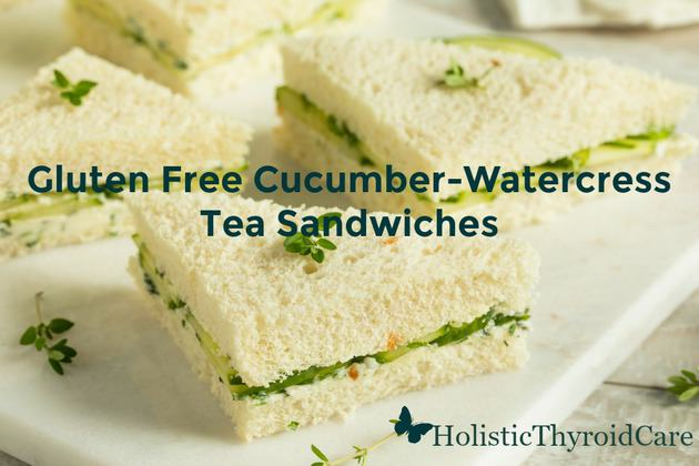 Gluten Free Cucumber Watercress Cream Cheese Tea Sandwiches
