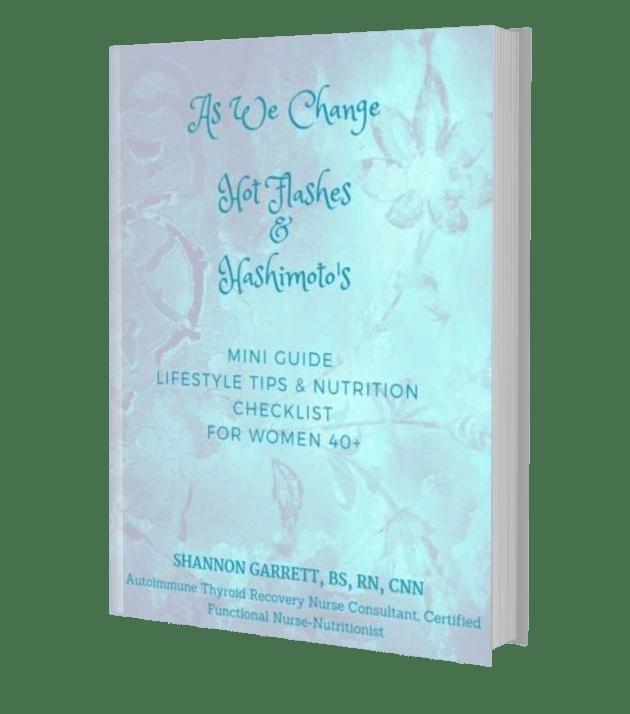 Menopause Hashimotos As We Change Book Cover menopause and hashimotos
