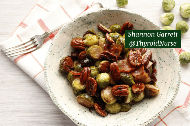 Brussels Sprouts with Bacon, Chestnuts & Cranberries