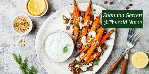 Roasted Carrots with Lentils & Tahini