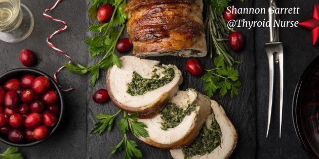Turkey Rolls with Cranberry Sauce