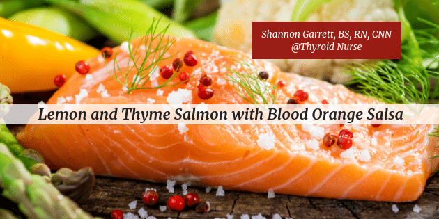 Lemon and Thyme Salmon with Blood Orange Salsa