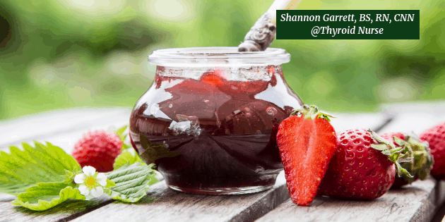 Strawberry Chia Jam in Mason Jar